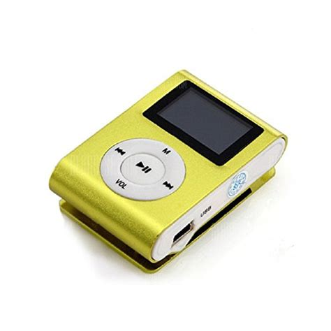 USB Clip MP3 Player LCD Screen Support 32GB Micro SD TF