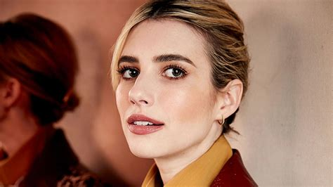 Emma Roberts Brown Hair is the Best Kind of Winter