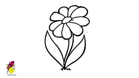 Simple Flower - Drawing - How to draw Flower - Very Easy
