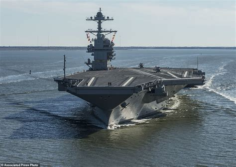 USS Gerald R Ford tested for the first time | Daily Mail