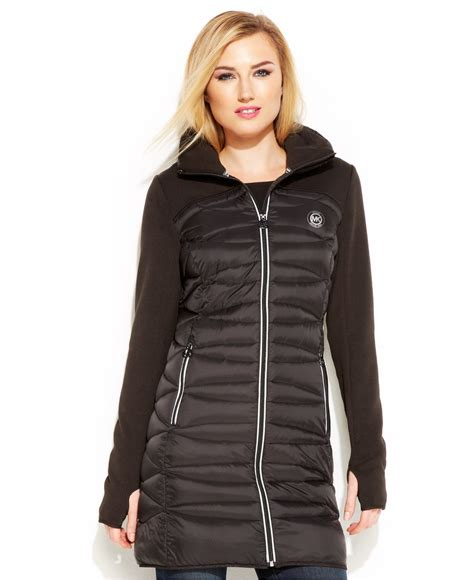 Lyst - Michael kors Michael Hooded Active Quilted Down