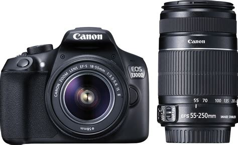 Canon EOS 1300D DSLR Camera Body with Dual Lens: EF-S 18