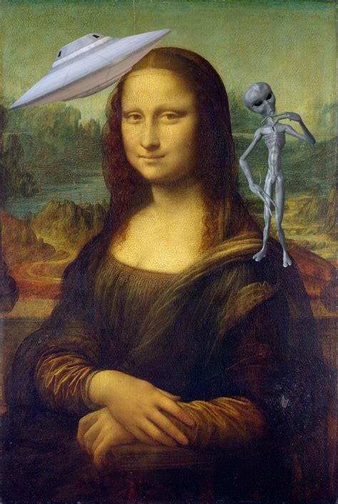 Is the Mona Lisa actually proof that extra-terrestrials