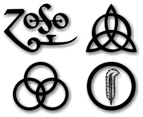artwork - What do the symbols mean on Led Zeppelins iconic