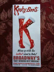 Kinky Boots ad/flyer Broadway Tonys Best Musical Billy