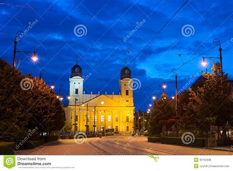 Debrecen landmarks stock photo